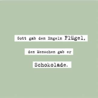 """Poesie et Table. Papierserviette. """"Gott gab den Engeln Flügel..."""""""