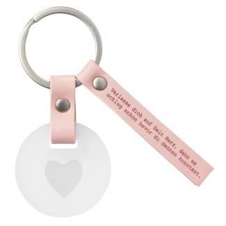 """Schlüsselanhänger """"Verlasse dich auf dein Herz..."""""""
