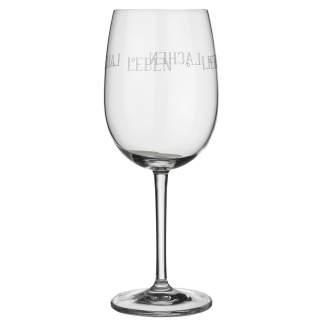 """Wei�weinglas """"Leben lieben lachen lallen"""""""