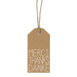 "Geschenkanhänger ""Danke Thanks merci"""