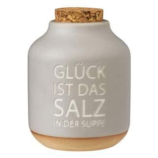 """Gewürzflasche """"Glück ist das Salz in der Suppe"""""""