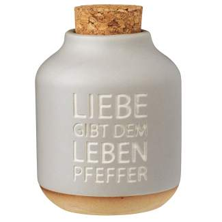 """Gewürzflasche """"Liebe gibt dem Leben Pfeffer"""""""