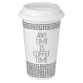 "Thermobecher ""Any time is coffee time"""