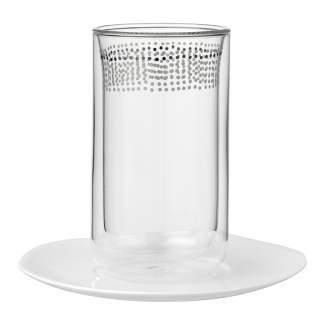 """Thermoglas mit Untertasse """"Punkte"""""""
