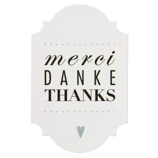 """Geschenkbriefchen """"merci Danke thanks"""""""