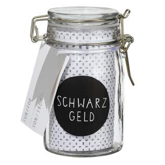 "Geschenkglas ""Schwarzgeld"""