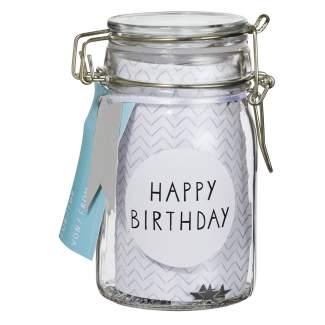 """Geschenkglas """"Happy Birthday"""""""