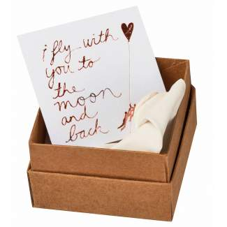 """Message in a box """"I fly with you..."""""""