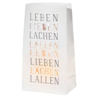 """Lichttüte """"Leben Lieben Lachen"""""""