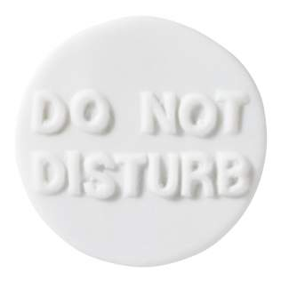 "Porzellanbutton ""Do not disturb"""