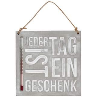 """Thermometer """"Jeder Tag ist ein Geschenk"""""""