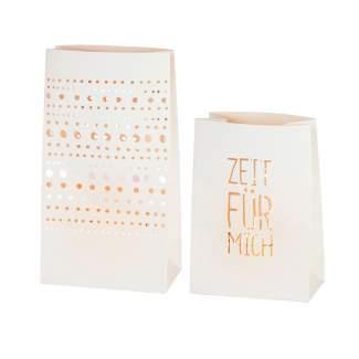 """Lichttüten 2er Set """"Zeit für mich"""""""