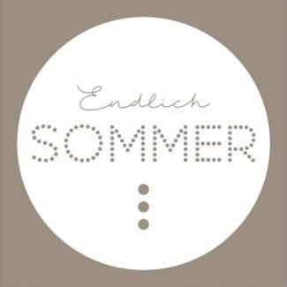 """Endlich Sommer """"Cocktailserviette"""""""