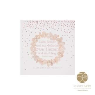 """Jubiläumsedition Blütenkarte """"Hochzeit"""""""