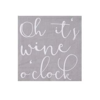 "Cocktailservietten ""Oh its wine o clock"""