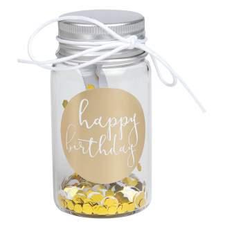 """Kleines Geschenkglas """"Happy Birthday"""""""