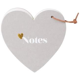 "Notizblock. Heart notes ""Notes"""