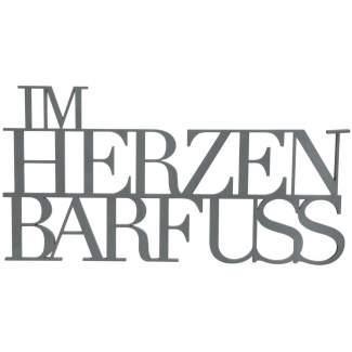 """Wandpoesie """"Im Herzen barfuss"""""""