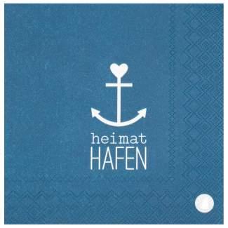 """Meer als Worte. Servietten """"Heimathafen"""""""