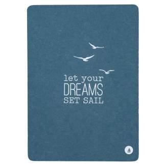 "Meer als Worte. Postkarte ""Let your dreams..."""