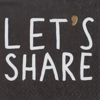 "Cocktailserviette ""Let's share"""