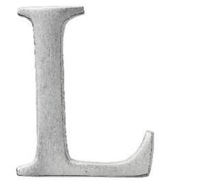 "Aluminium Buchstabe ""L"""