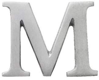 "Aluminium Buchstabe ""M"""