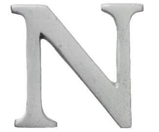 "Aluminium Buchstabe ""N"""