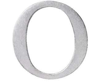 "Aluminium Buchstabe ""O"""