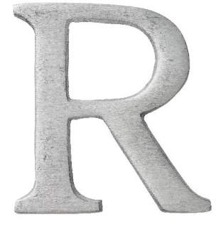 "Aluminium Buchstabe ""R"""