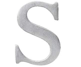 """Aluminium Buchstabe """"S"""""""