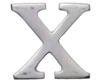 """Aluminium Buchstabe """"X"""""""
