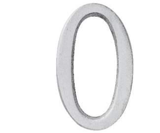"Aluminium Zahl ""0"""
