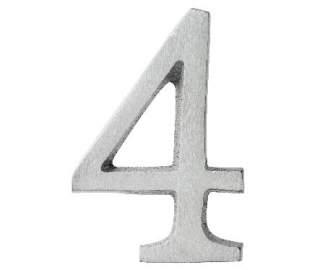 "Aluminium Zahl ""4"""