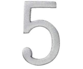"Aluminium Zahl ""5"""