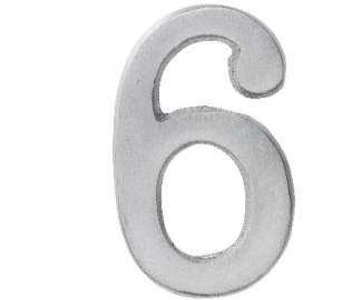 "Aluminium Zahl ""6"""