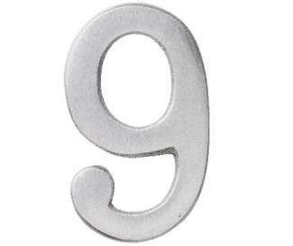 "Aluminium Zahl ""9"""