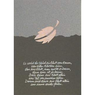 """Trauerkarte """"Es weht der Wind..."""""""