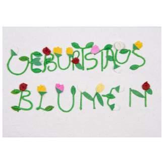 """Schrift Karte """"Geburtstagsblumen"""""""