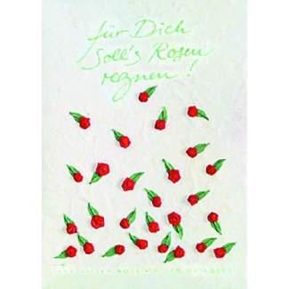 """Rosen Karte """"Für Dich soll's rote Rosen..."""""""