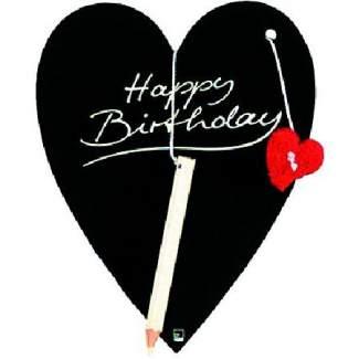 "Herz Tafel Karte ""Happy Birthday"""