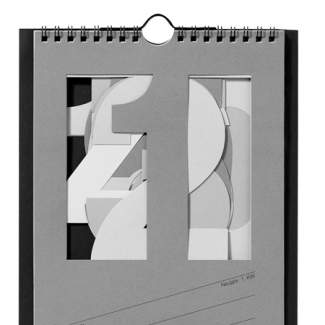 "Streifenkalender 2018 ""Monatskalender, grau"""