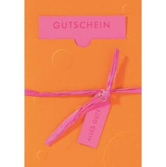 """Gutscheinpräge Karte """"Anhänger"""""""
