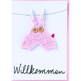 "Baby Welcome Card ""Willkommen"""