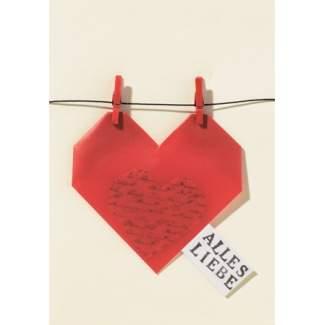 """Origami Karte """"Herz - Alles Liebe"""""""
