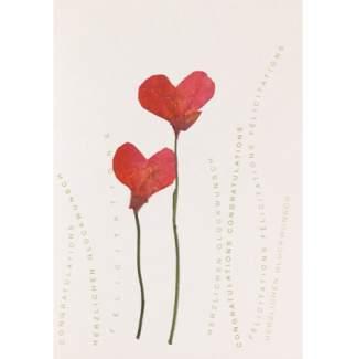 """Herzblüten Karte """"Mohnblüten"""""""