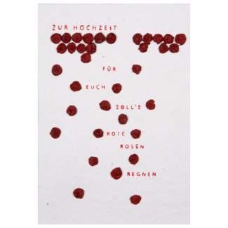 """Blütenhochzeit Karte """"rote Rosen"""""""
