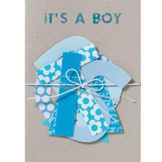 """Girlanden Karte """"It's a Boy"""""""