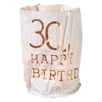 """Papierlichtkarte """"30 - Happy Birthday"""""""