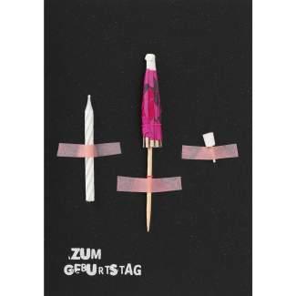 """Artefakte Karte """"Zum Geburtstag"""""""